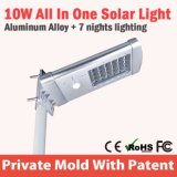 10W acero inoxidable LED Solar Electric jardín Luces al aire libre