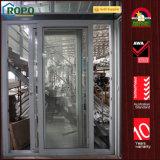 UPVC que desliza portas do pátio com vidro do dobro do interior das cortinas