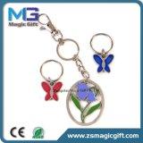 Populäres Blumen-Basisrecheneinheits-Decklack-Metall Keychain