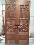 Puerta de cobre pura hecha a mano de calidad superior de Foshan Woodwin para el chalet