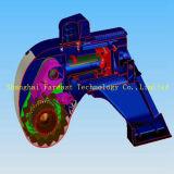 Il bullone vuoto ultrasottile lavora il grande tipo la chiave di coppia di torsione pneumatica, la chiave di coppia di torsione elettrica, la chiave di coppia di torsione idraulica, profilo basso/chiave a cricchetto dell'asta cilindrica di coppia di torsione