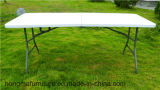 Table pliante rectangulaire bi-pliante de 240 cm, table pliante, table de jardin