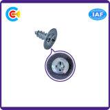 Acier au carbone / 4.4 / 8.8 / 10.9 M6 Phillips / Plaque à tête croisée à tête galvanisée Vis à auto-perçage avec rondelle