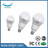Luz plástica do diodo emissor de luz do alumínio do diodo emissor de luz do bulbo quente 3.5W 7W 9W 13W 20W 30W 50W E27 B22 do diodo emissor de luz
