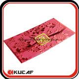 Paquete rojo del sobre de encargo de la boda en Guangzhou