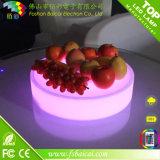Bandeja de fruta iluminada LED Bandeja de plástico impermeable LED Serving para la cerveza
