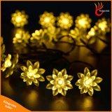 6m 30LEDs 요전같은 연꽃 LED 태양 크리스마스 끈 빛