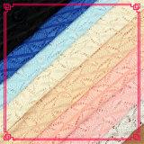 85%の綿15%のナイロンゆがみの編むかぎ針編みのレースファブリック