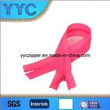 No. 3 Zipper de nylon do laço do Zipper da extremidade próxima invisível