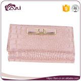 女性、贅沢な本革の札入れのための小さいピンクの革札入れ