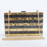 Saco de noite acrílico da forma da bolsa da embreagem das senhoras com a cinta de ombro Chain Eb851