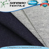 Le filé d'indigo a teint le tissu français de denim de Knit de Terry 300GSM