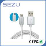 Фабрика сразу 2 в 1 кабеле данным по заряжателя USB кабеля данных гибком Multi для Android и iPhone (серебр)