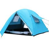 3-4 barraca de acampamento ao ar livre da qualidade de Hight da tempestade da camada dobro da pessoa