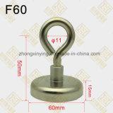D60mm Bekervormige Magneet met de Schroef van het Oog