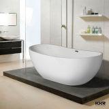 Vasca da bagno indipendente di superficie solida di pietra composita bianca degli articoli sanitari