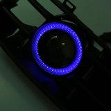 A grade azul do amortecedor dianteiro de luzes de névoa do diodo emissor de luz para o anjo da VW Mk4 Eyes luzes de névoa de Enterior do carro da lâmpada