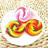 多彩な渦巻の余暇の堅いロリポップキャンデー