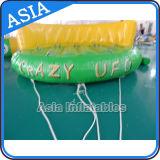 UFO loco inflable del agua de la playa del uso de la playa del sofá del vuelo del barco inflable de Towables