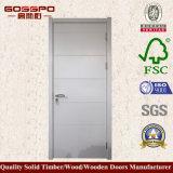 Porta de madeira da melamina branca moderna (GSP12-020)