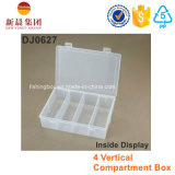4 compartimento vertical Clear Box