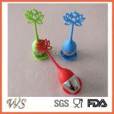 Ручка силикона шарика нержавеющей стали инструмента чая свободных листьев Infuser чая Ws-If044 (красная)