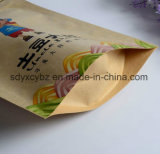 Papier lamellierter materieller Fastfood- mit Reißverschlussbeutel für Nahrung