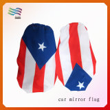 O costume da tela de Lycra imprimiu a bandeira decorativa da tampa do espelho de carro