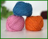 filato della fibra della iuta tinto 3ply (colore rosa)