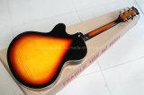 Música de Hanhai/guitarra elétrica estilo L5 Semi-Oco Sunburst do tabaco