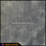 Jeans Grain Synthetic PU Leather para sapatos e sacos Making Hx-S1717