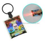 LEIDEN Licht pvc Keychain met OEM Embleem, het Product van de Bevordering van de Douane, Ideale PromotieGift