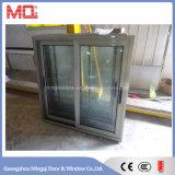 Champagne de doble acristalamiento de aluminio color de la ventana corrediza