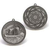 Античный корабль медали пожалования сувенира металла серебра 3D