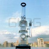Gldg 17 pollici - tubo di acqua di vetro delle tre tabelle funzione alta di Percs di grande con tanti tacche del ghiaccio
