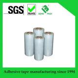 Película de estiramiento transparente modificada para requisitos particulares del PE con la maneta de papel de la base