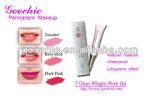 Goochie permanentes del maquillaje 7 Días Magia rosa hasta brillo de labios