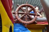 Corrediça de água inflável nova do navio de pirata do projeto para o quintal