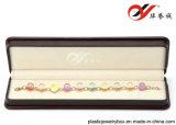 Doos Jewellry van de Kleur van Bourgondië de Plastic met de Dekking van de Verf