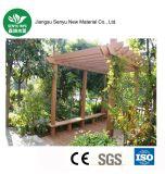 Pérgola al aire libre compuesta plástica de madera