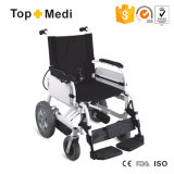 L'handicap facile portent le fauteuil roulant électrique de pouvoir pliable détachable de batterie au lithium