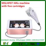 Máquina facial portátil do uso Home/máquina facial de Hifu com cinco cartuchos