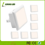 Light Sensor Daylight White LED Night Lamp para sala de criança