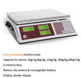 Precio computacional de la escala del balance del precio del escritorio de Acs-588 30kg Digitaces