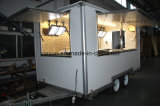 El bocado trabaja a máquina los carros móviles de los alimentos de preparación rápida del acoplado del abastecimiento para la venta
