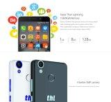"""De nieuwe Kern van 6.0 Vierling van de Telefoon van Thl T9 4G Lte Slimme Androïde de Mobiele Vingerafdruk 64bits 1.3GHz 1GB+8GB 5MP 5.5 van de Telefoon Mtk6737 """" IPS het Wit van Cellphone"""
