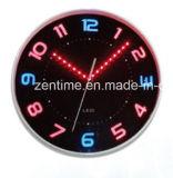 Horloge analogique de câble avec l'horloge numérique émettante lumineuse d'éclairage LED