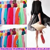 Ткань 100% ткани полиэфира 100d шифоновая умирая для платья повелительниц