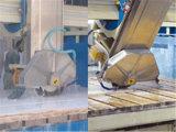 留め釘切口が付いている石造りの打抜き機の花こう岩か大理石のカッター機械