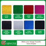 Vinyle brillant de transfert thermique de scintillement de Qingyi pour le vêtement et le vêtement